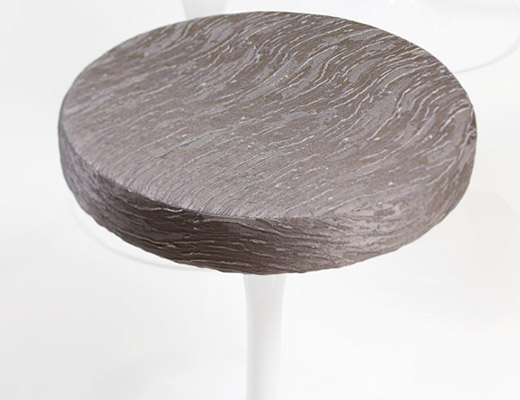Knoll Luxe Byron upholstery by Rodarte on Saarinen Stool
