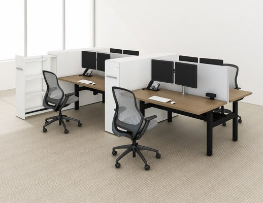 k. bench benching height adjustable desk regeneration by knoll well-being ergonomics group workstations