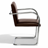 Tubular Brno chair Mies van der Rohe profile