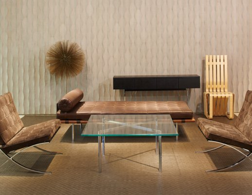 ... NeoCon 2015 Waiting Area Activity Space Ludwig Mies Van Der Rohe Harry  Bertoia Frank Gehry Spinneybeck · Knoll ...