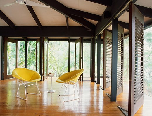 Yellow Bertoia Diamond Chair