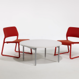Antenna Low Table with Spark Series Lounge Chair