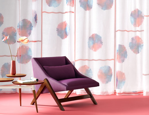 KnollTextiles Contour Bounce Drapery Dorothy Cosonas fabric contour collection acoustic drapery curtains 2019