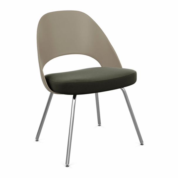 Saarinen Executive Chair - Plastic Back with Tubular Legs
