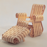 Gehry Power Play Chair with Ottoman