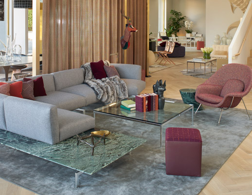knoll los angeles home design shop avio sofa system womb chair florence knoll coffee table rockwell unscripted creative wall upholstered seat mercer side table