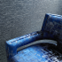 KnollTextiles renaissance collection metallic sheen screen printed Chiseled 90000 double rubs high performance luxurious hospitality specialty wallcovering Tandem upholstery blue pattern texture large-scale organic paper backing paper backed rebel Quarry