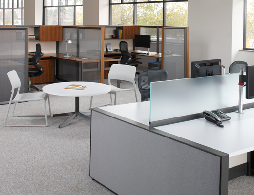 Dividends Horizon open plan benching and workstations