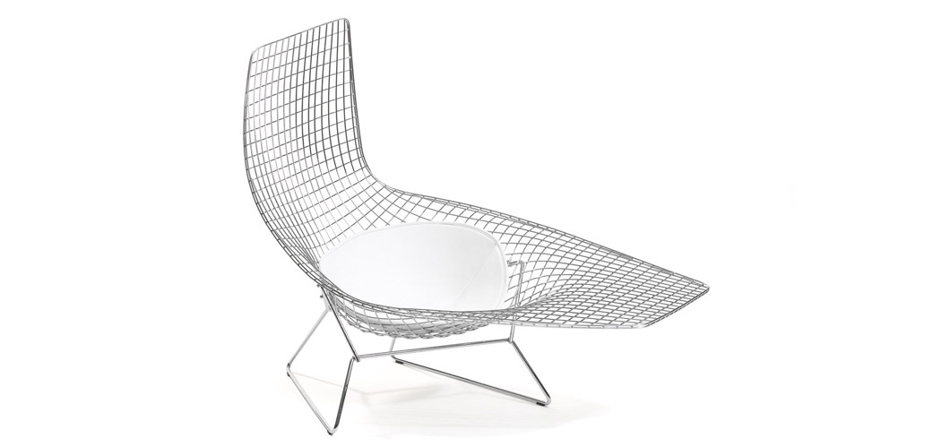 Knoll Bertoia Asymmetric Chaise by Harry Bertoia