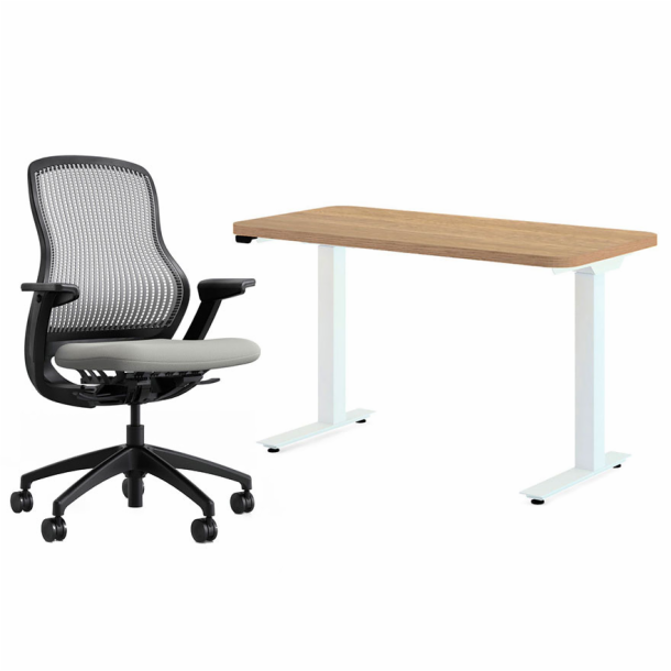 Hipso Height‑Adjustable Desk - with Chair