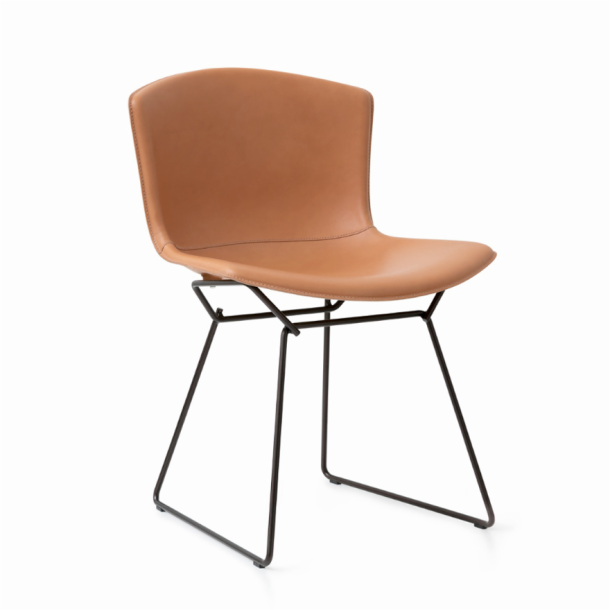 Bertoia Leather‑Covered Side Chair