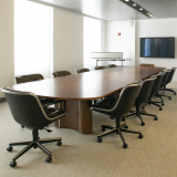 Propeller Conference Table with Pollock meeting room chairs