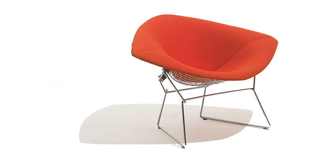 Knoll Bertoia Large Diamond Chair By Harry
