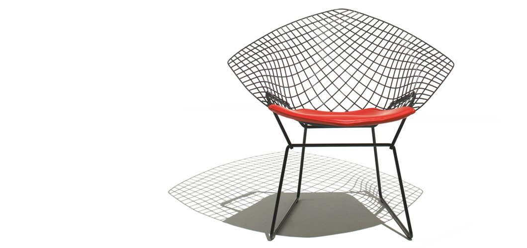 Bertoia Diamond Chair on knoll harry bertoia small diamond chair with seat cushion