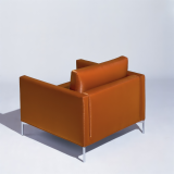 KnollStudio brown leather Divina Lounge Chair