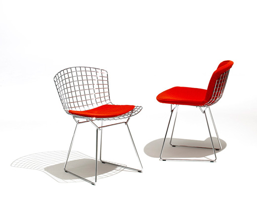 Bertoia Side Chair red seat cover