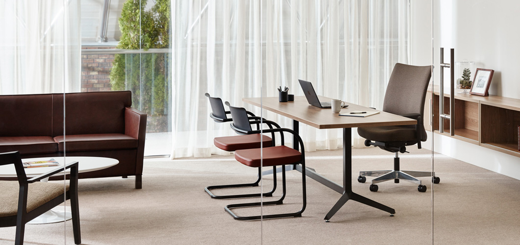 Dividends Horizon Y Base Tables and Desks for the Open Plan Office Knoll