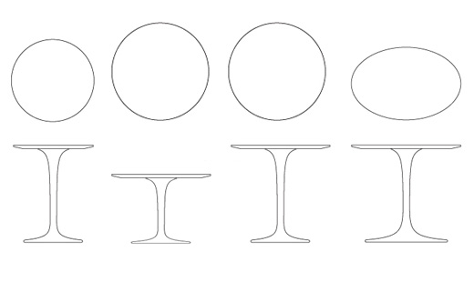 Saarinen Side Tables Knoll - Saarinen table sizes
