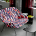 knoll design days womb settee color collage shape of things collection fulton market alexander girard model 108 table