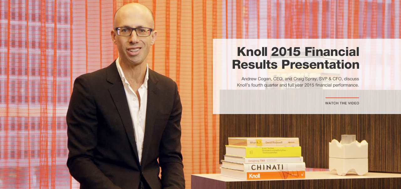 Knoll 2015 Financial Results Video Presentation