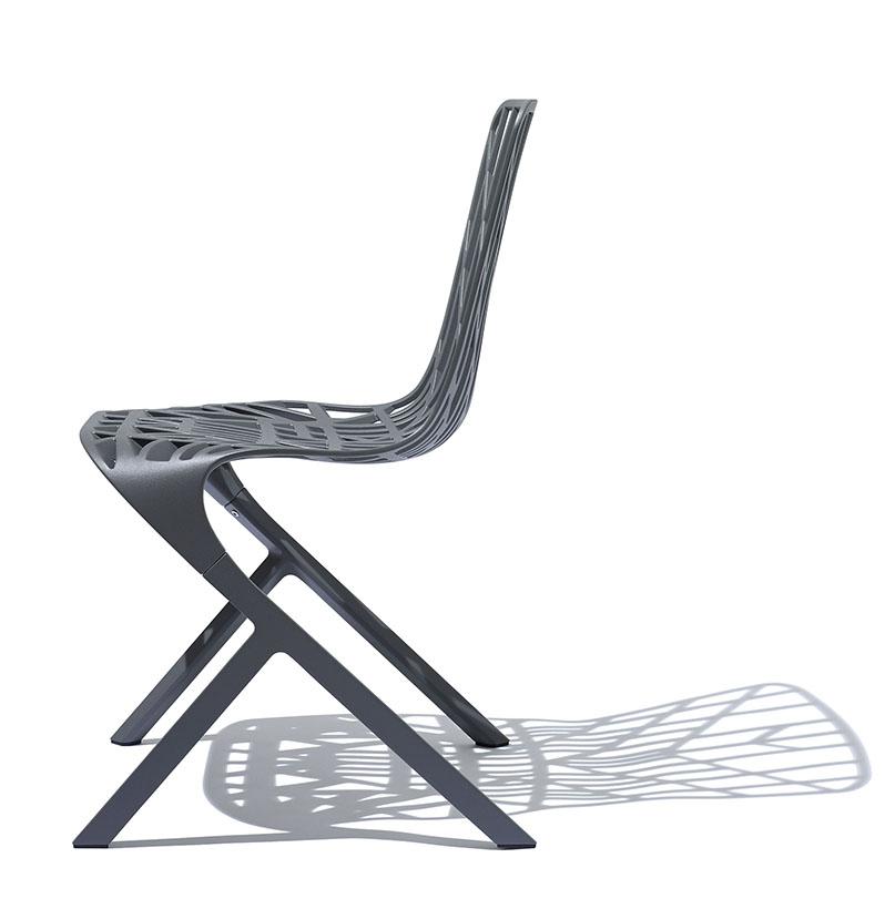 Washington Skeleton Aluminum Side Chair By David Adjaye