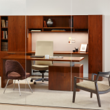 Reff Profiles private office Remix High Back Saarinen Executive Armless Krusin Lounge veneer wood Gigi stool Knoll Essentials