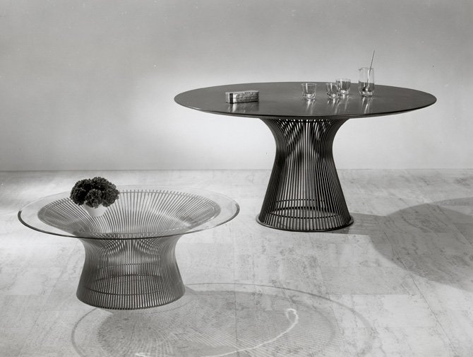 Platner dining table knoll for Table warren platner