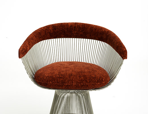 Knolltextiles Digi Velvet Upholstery On Platner Arm Chair