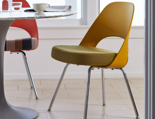 Saarinen Armless Executive Plastic Back Chair