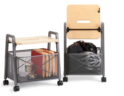 rockwell unscripted immersive planning mobile storage cart 20 and 24 in flip flop top