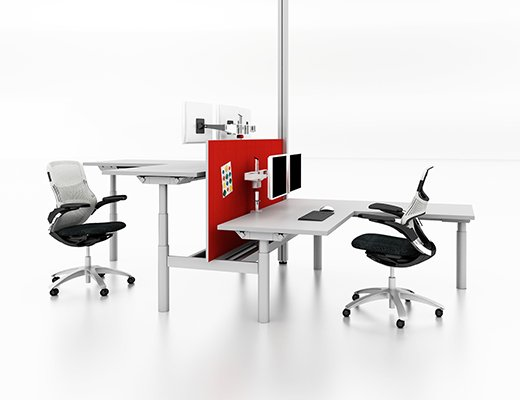Knoll Height Adjustable Dual Tables