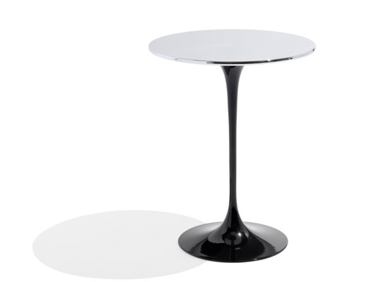 saarinen side table chrome top knollstudio metallics