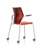 MultiGeneration by Knoll red Stacking Chair