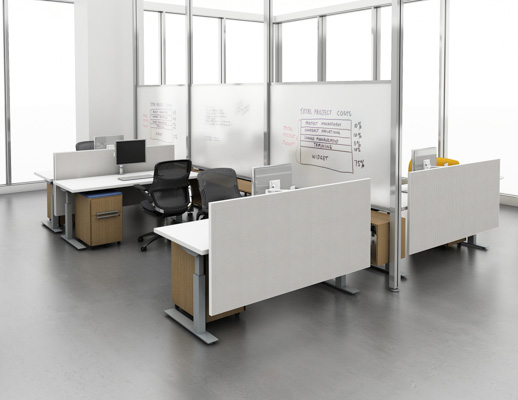 ... Table · Height Adjustable Workstations With Interpole White Board Privacy  Dividers ...