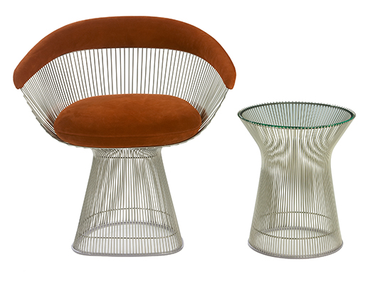 Platner Lounge Seating and Side Table