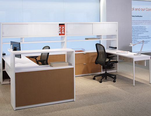 Template open plan system with Chadwick chair