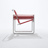 Wassily Chair with red Spinneybeck leather straps