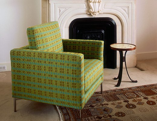 Petite Divina Lounge chair in green upholstery