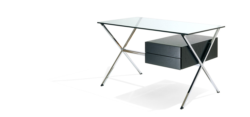 Knoll Franco Albini metal and glass desk 1928