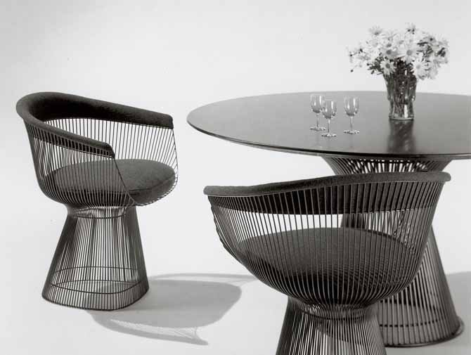 Platner Dining Table In Gold Knoll