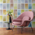 The Fields Collection  Rachel & Nicholas Cope | Expanse Wallcovering  Buzz Upholstery on Womb Chair