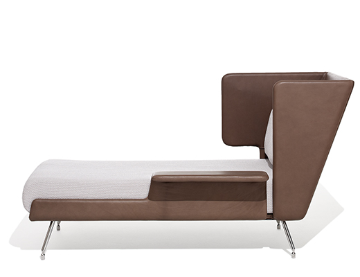 u0026 associs residential chaise lounge in brown