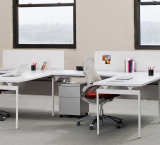 Antenna Workspaces Linked Desks with Fence Generation Chair Storage