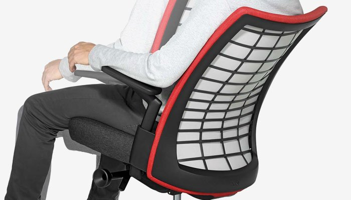 A Flexible Back Frame Provides Structure And Support While Allowing For  Torsional Side To Side Movement.