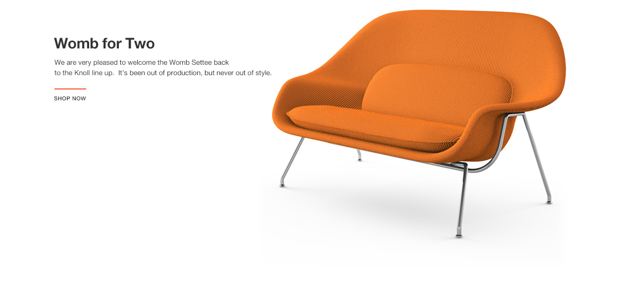 Womb for Two - Reintroducing the Womb Settee by Eero Saarinen