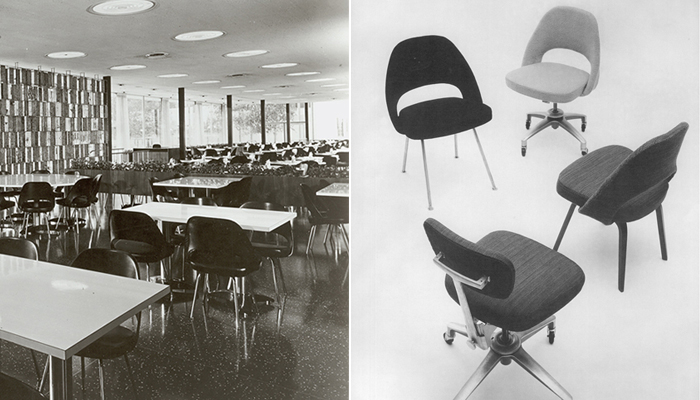 Left: General Motors Technical Center, 1956. Right: 70 Series, 1950.