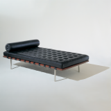 Knoll Mies van der Rohe black leather Barcelona Couch
