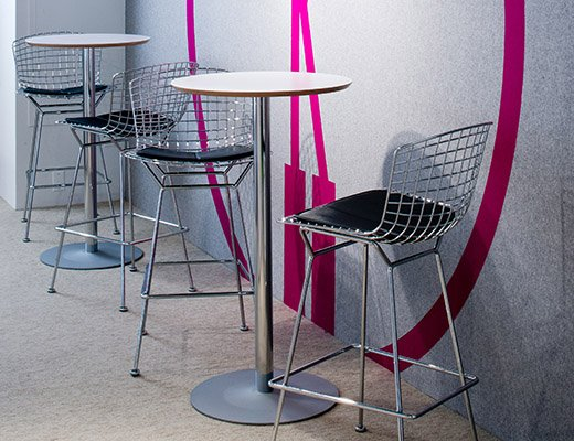 NeoCon 2013 Arena Bar Table and Bertoia Barstools