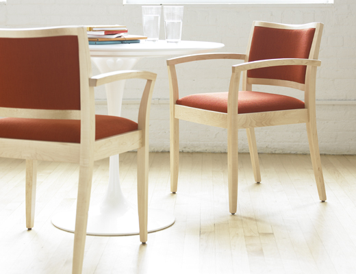 Fully upholstered JR Chair, Saarinen Dining Table
