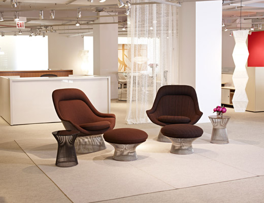 Warren Platner Easy Chair and Ottoman